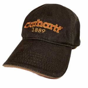 Carhartt Ball Cap Brown with Orange Embroidery